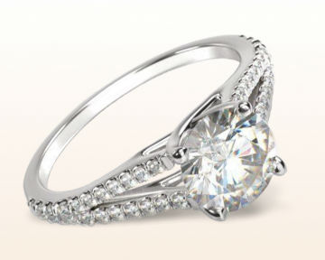 low profile engagement rings Split Shank Trellis
