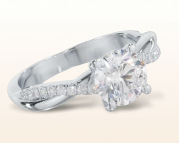 low profile engagement rings Twisting Vine Diamond