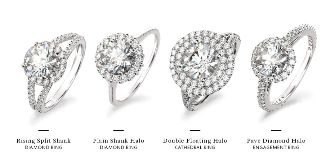 benefits of halo engagement ring styles