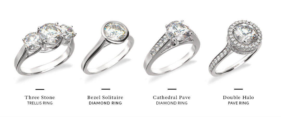 low profile engagement rings setting options