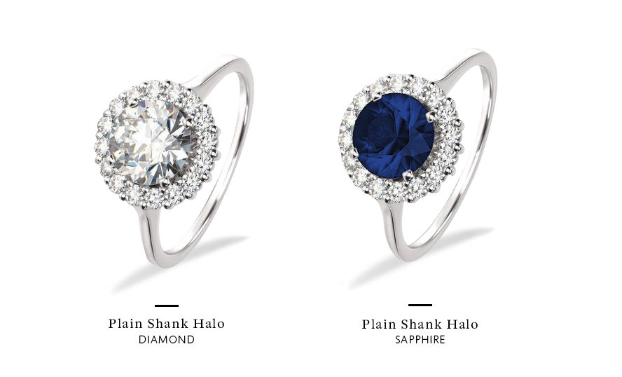 sapphire and diamond engagement rings center stone