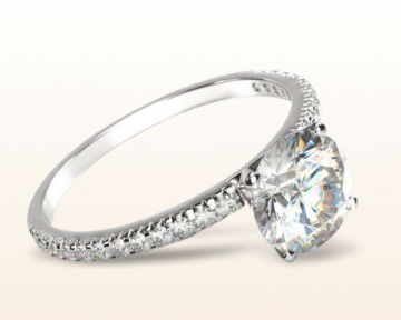 Best Engagement Rings for Teachers French Cut Pave Diamond