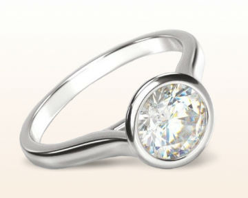 engagement rings for chefs bezel solitaire