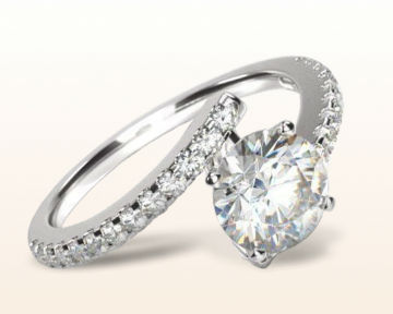 engagement rings for chefs Twist Diamond