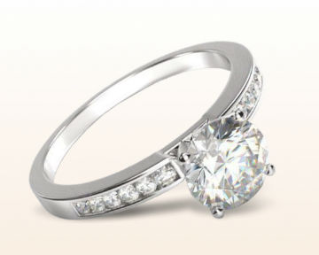 Engagement Rings for Doctors Cascading Channel Set Diamond