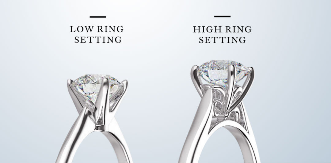 Engagement Rings for Doctors High Low Settings