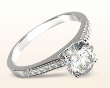 Engagement Rings for Doctors Princess Diamond