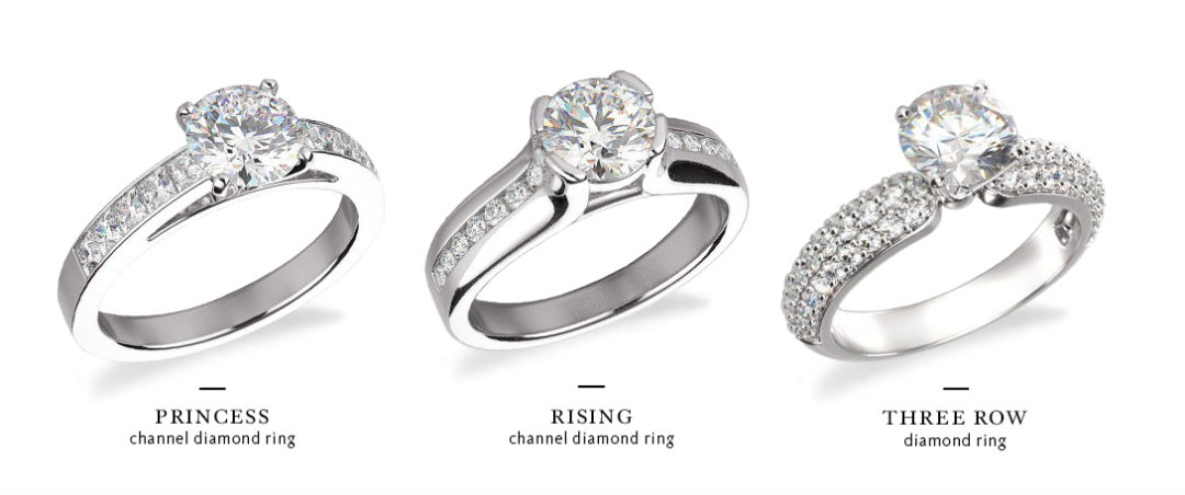 wide band engagement rings comparison accent diamonds