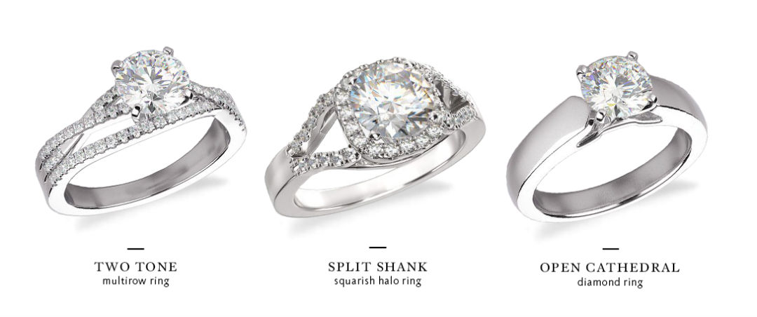 wide band engagement rings styles
