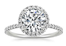 halo style engagement ring collection