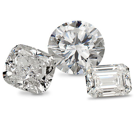 three loose diamonds that sparkle showing how to buy perfect diamonds