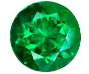 round brilliant cut natural green emerald