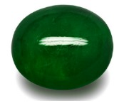 oval cabochon cut natural green emerald