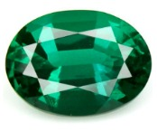 oval mixed cut natural green emerald