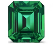 octagon step cut natural green emerald