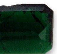 natural cavities or chips in an emerald