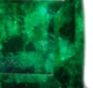 Color Zoning in the emerald affects it's evenness of green