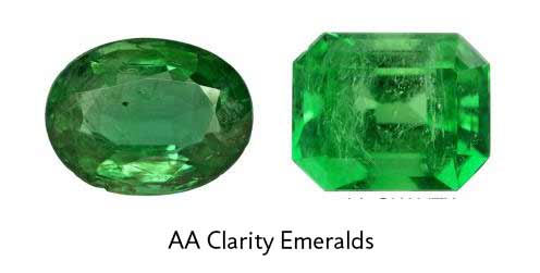 oval and octagon emeralds with minor eye visible inclusions