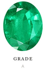 A quality natural oval emerald color