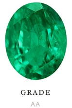 AA quality natural oval emerald color