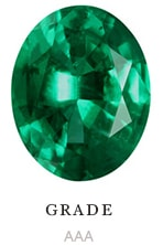 AAA quality natural oval emerald color