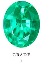 B quality natural oval emerald color