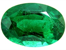 oval emerald natural AAA shape