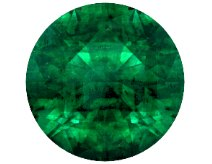 round emerald natural AAA shape