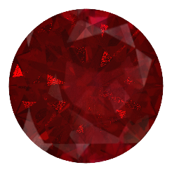 round brilliant cut natural red ruby