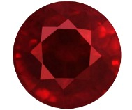 round mixed cut natural red ruby
