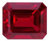 octagon step cut natural red ruby