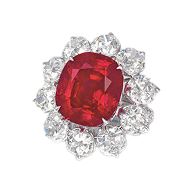 Crimson Flame Ruby Ring