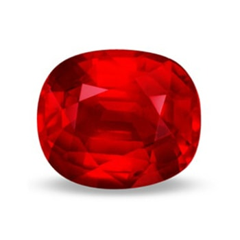 Cushion red natural AAA quality Ruby