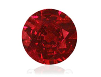 AAA quality round ruby with no clarity inclusions making it vivd red