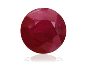 AA quality round ruby with obvious clarity inclusions making it opaque