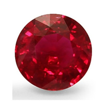 Round red natural AAA quality Ruby