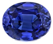 oval mixed cut natural blue sapphire