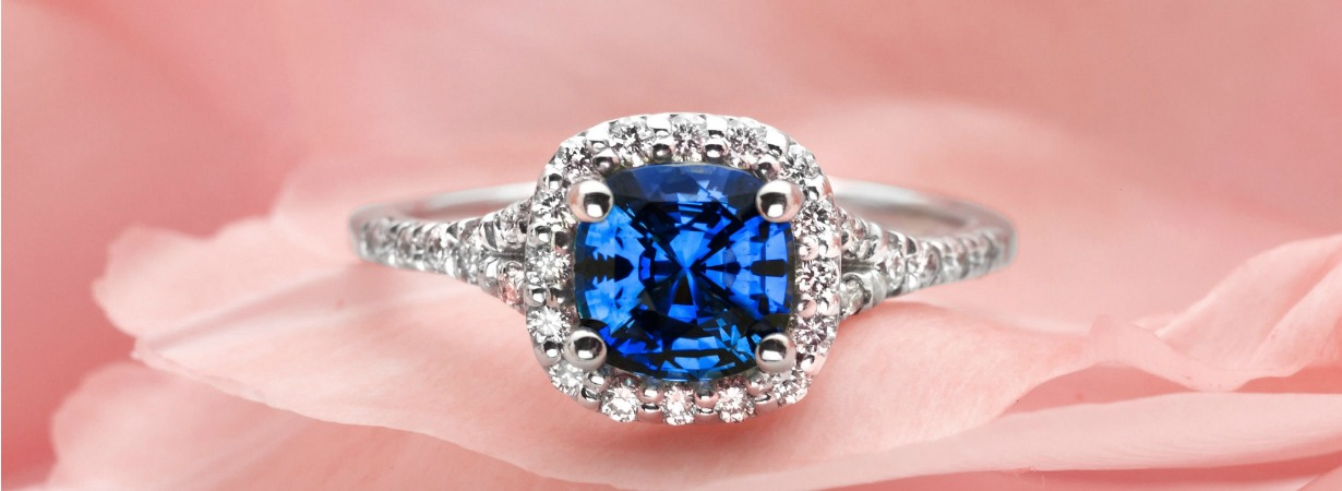 edwardian and diamond cluster delightful ring sapphire antique vintage products