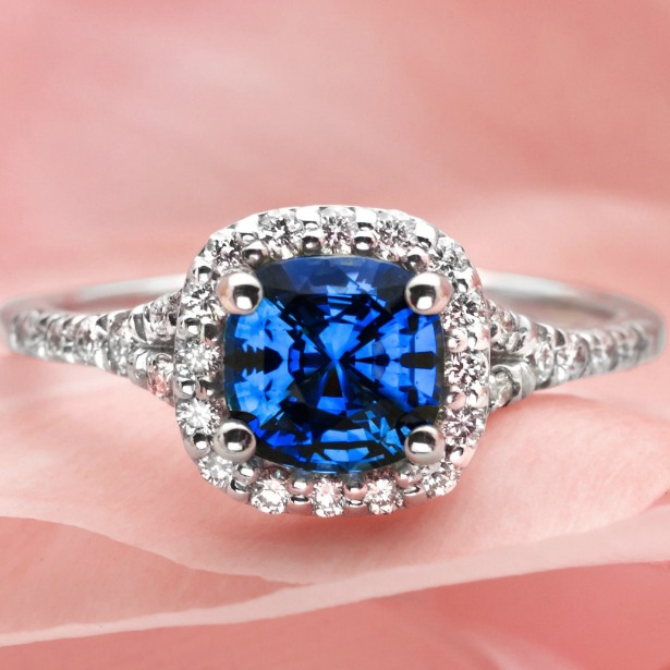 Sapphire Vs Diamond Engagement Rings Gemstone Education