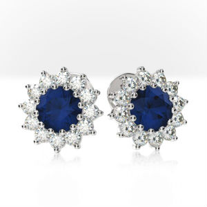 sapphire earrings by style studs