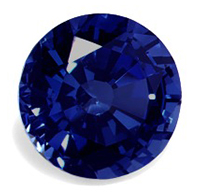 round high quality natural sapphire shape
