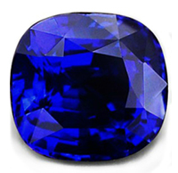 cushion high quality natural sapphire shape