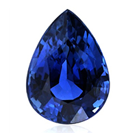 pear high quality natural sapphire shape