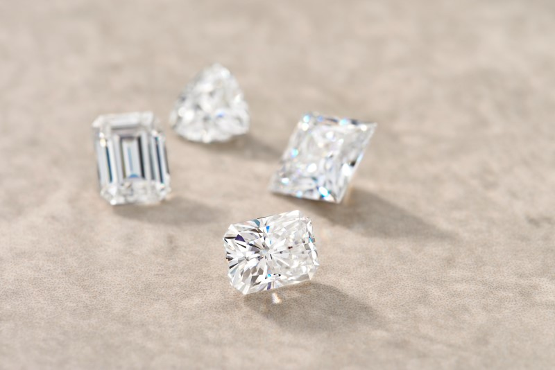 Forever One Charles & Colvard loose moissanite:emerald, princess, radiant