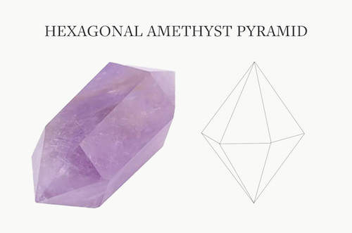 Amethyst Structure Hexagonal Pyramid