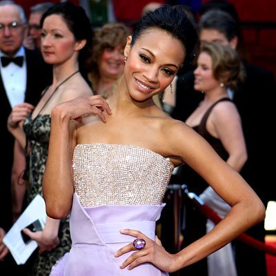 Zoe Saldana Amethyst Ring 2011 Academy Awards
