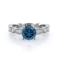 Four Points London Blue Topaz Ring
