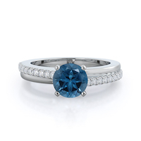 Rising Accents London Blue Topaz Ring