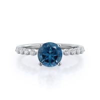 Under Bezeled Accent London Blue Topaz Ring