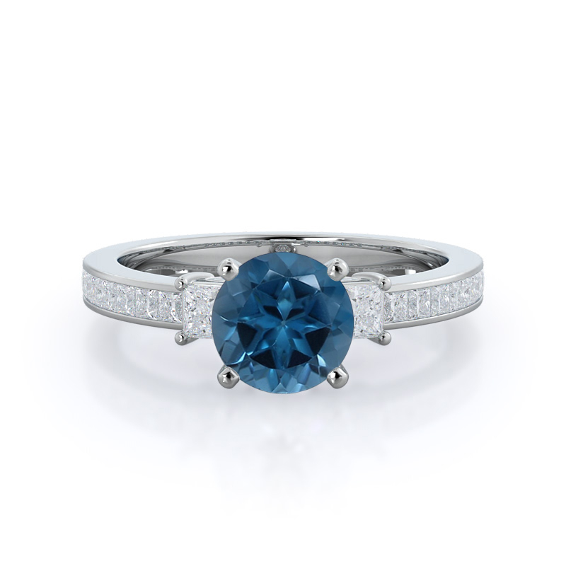 Princess Accent London Blue Topaz Ring